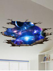 Ceiling Floor Decor 3D Galaxy Planet Wall Stickers - DEEP BLUE