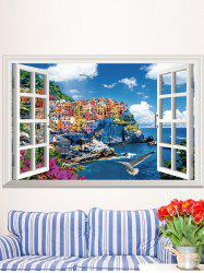 3D Seascape Faux Window Vinyl Removable Wall sticker