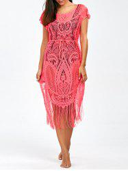 Openwork See-Through Fringed Swimwear Cover-Ups