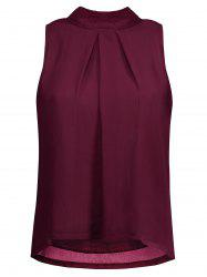 Ruched Cut Out Chiffon Tank Top -