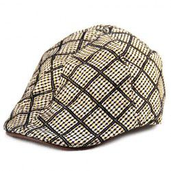 Checkered Pattern Design Ivy Hat