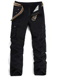 Star Stud Embellished Pockets Design Cargo Pants