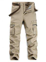 Selvedge Embellished Zipper Fly Pockets Cargo Pants