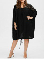 Oversized Long Sleeve Plus Size Dress