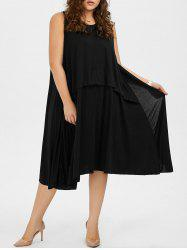 Sleeveless Plus Size A Line Midi Casual Dress