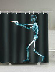 Shooting Skeleton Print Bathroom Shower Curtain
