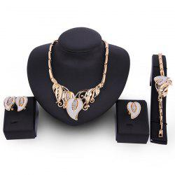 Flowers Design Faux Gem Jewelry Set