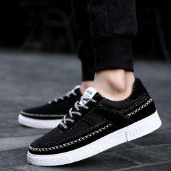 Breathable Mesh Casual Shoes - BLACK