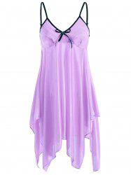 Handkerchief Ruffles Cami Babydoll - LIGHT PURPLE