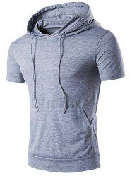Hooded Draw String T-Shirt