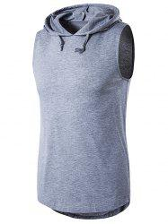 Hooded Sleeveless T-Shirt - LIGHT GRAY
