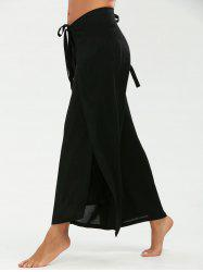 Convertible Multi Way Wrap Pants - BLACK