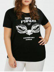 Plus Size Animal Face Graphic T-Shirt