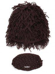 Hobo Pretend Beanies Wig Beard Party Mask Set