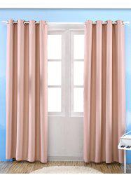 Grommet Thermal Insulated Window Blackout Curtain - PINK W39 INCH*L98 INCH