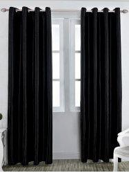 Grommet Thermal Insulated Window Blackout Curtain - BLACK