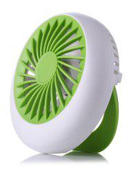 Handheld Big Wind USB Summer Mini Bureau Ventilateur - Vert