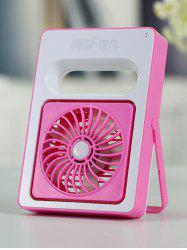 Home Office Mini USB Ventilateur de bureau rechargeable - ROSE PÂLE