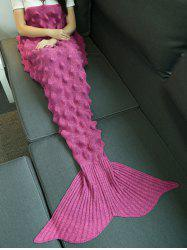 Hérisson design fil tricoté Mermaid Tail Blanket -