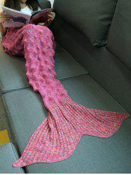 Panaché tricotée Mermaid Tail Shape Blanket -