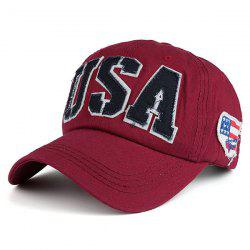USA Flag Letters Embroidered Baseball Hat
