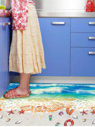 Beach Pattern Removable Floor Sticker Wall Decor