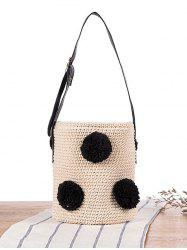 Crochet Drawstring Bucket Sling Bag - MULTICOLOR