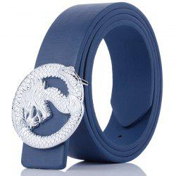 Dragon Shape Embellished Wide Belt - BLUE