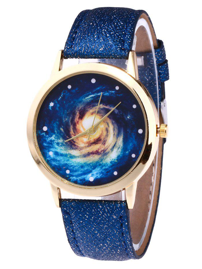 Best Faux Leather Strap Vortex Starry Watch