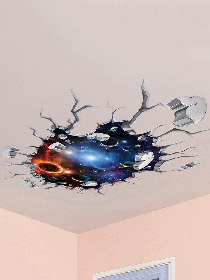 2019 wall broken 3d galaxy planet ceiling wall stickers | rosegal