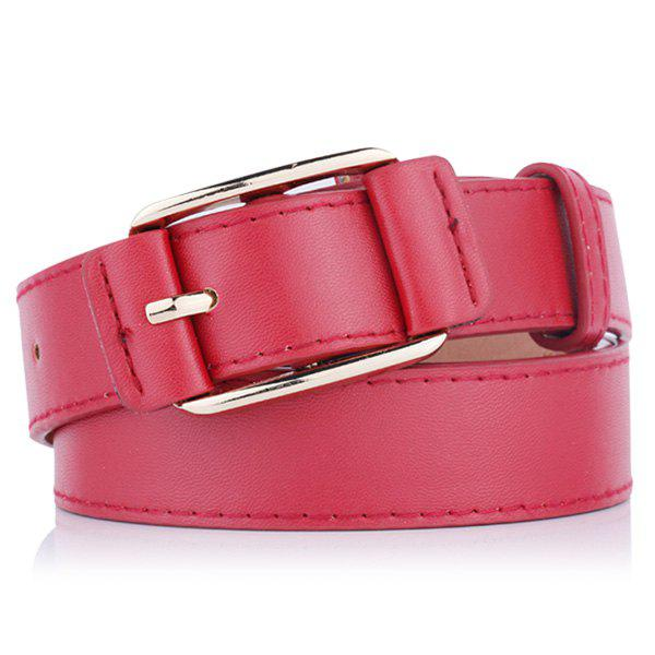 Outfits Plain Pin Buckle Artificial Leather Waist Belt