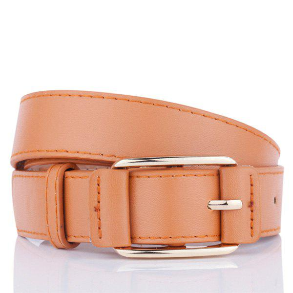 Unique Plain Pin Buckle Artificial Leather Waist Belt