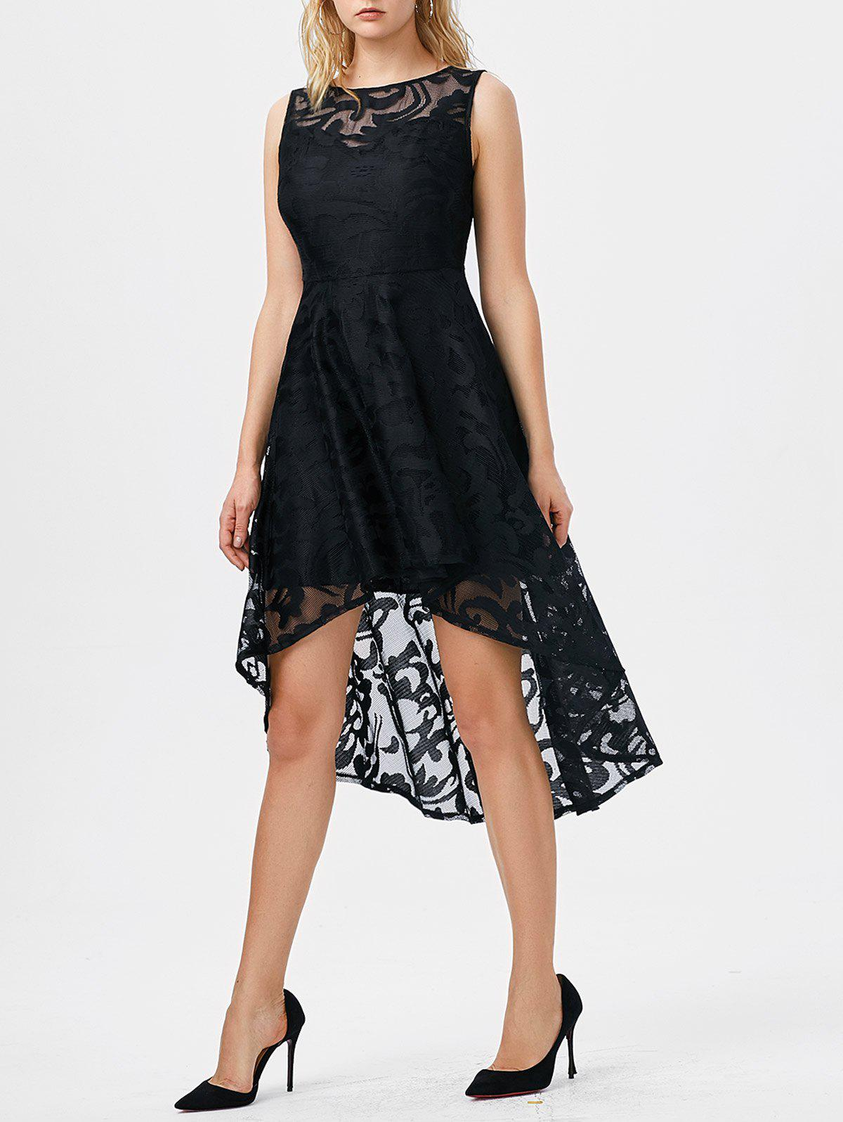 Discount Lace High Low Swing Evening Party Dress