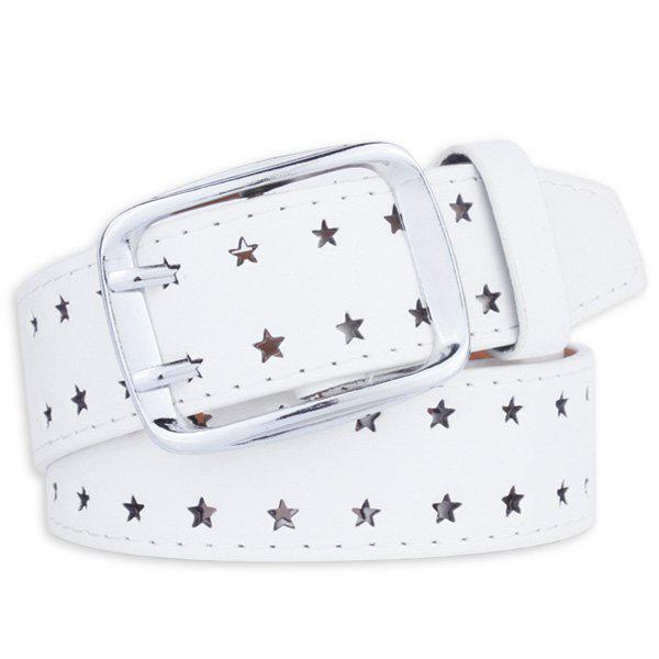 Hot Hollow Out Stars Pin Buckle Wide PU Leather Belt