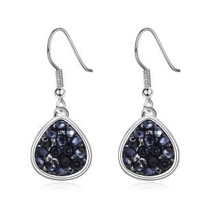 Teardrop Artificial Crystal Drop Earrings