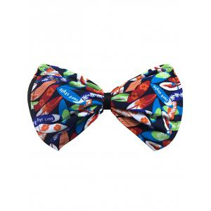 Bowknot Floral Bandeau Bikini Top - Blue And Orange - L