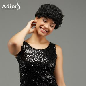 Adiors Short Curled Hairstyle Capless Synthetic Wig