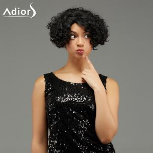 Adiors Fluffy Short Curled Hairstyle Synthetic Wig