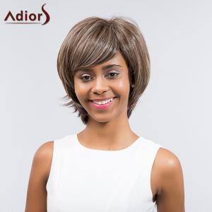 Adiors Short Layered Cut Tail Upwards Side Bang Synthetic Wig -