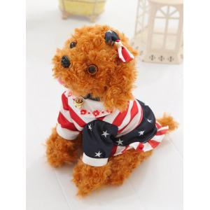 Dressed Peter Pan Collar Bowknot Flower Teddy Dog Toy