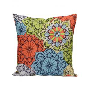 Ethnic Floral Back Cushion Throw Pillowcase