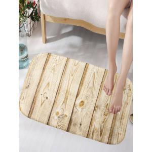 Crafted Wood Texture Skidproof Flannel Artistic Area Bath Mat
