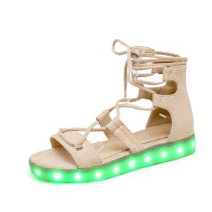 Led Luminous Flat Heel Sandals