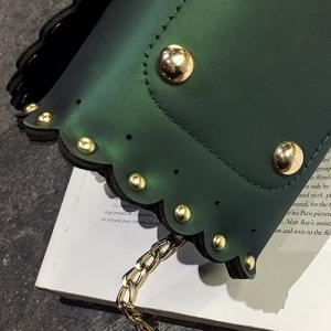 Rivet Chains Scalloped Crossbody Bag -