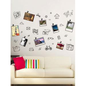 Travel Plans Notes Removable Photo Wall Sticker - Black - 60*90cm
