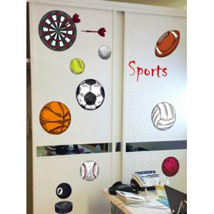 ... Sports Game Print Sports Wall Stickers For Bedrooms ...