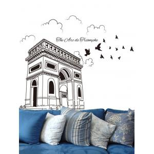Triumphal Arch Bird Painting Removable Wall Sticker