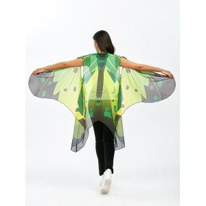 Sleeveless Butterfly Wing Cape Voile Pashmina