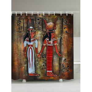 Ancient Egypt Painting Waterproof Shower Curtain - Colormix - W71inch*79inch