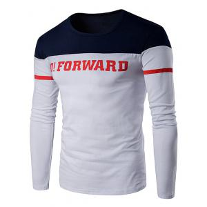 Varsity Stripe Graphic Print Long Sleeve T-Shirt